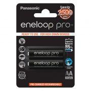 Аккумулятор AA Panasonic Eneloop Pro 2500мА/ч Ni-Mh, 2шт, блистер (BK-3HCDE/2BE)