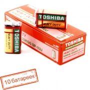 Батарейка 9V TOSHIBA 6F22, солевая, 10шт, коробка