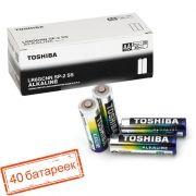 Батарейка AA Toshiba LR6/2SH Alkaline, 40 шт, коробка