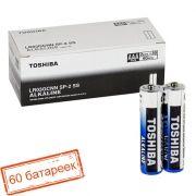 Батарейка AAA Toshiba LR03/2SH Alkaline, 60 шт, коробка