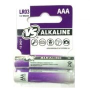 Батарейка AAA VS LR03/2SHRINK CARD Alkaline, 2 шт