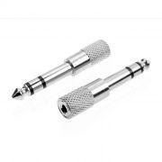 Адаптер 3.5 stereo jack -> 6.3 stereo plug, металлический корпус, Premier (2-125)