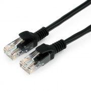 Кабель патч-корд UTP 5е категории 2 м, черный, Cablexpert (PP12-2M/BK)