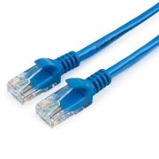 Кабель патч-корд UTP 5е категории 1.5 м, синий, Cablexpert (PP12-1.5M/B)