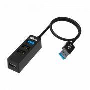 HUB 4-port Ritmix CR-3402, USB3.0 (1 порт), USB2.0 (2 порта)