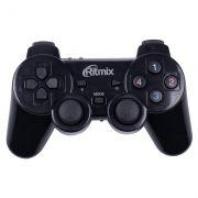 Геймпад беспроводной RITMIX GP-020WPS, ПК/PS3, черный