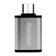 Адаптер OTG USB 3.1 Type C(m) - USB 3.0 Af, серебристый, SmartBuy (SBR-OTG05-S)