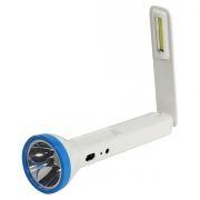 Фонарь SmartBuy, аккумуляторный, зарядка 220В, белый, 1 LED 1W + 1 COB 2W (SBF-71C-W)