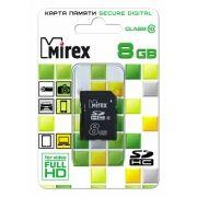 Карта памяти SDHC 8Gb Mirex Class 10 (13611-SD10CD08)