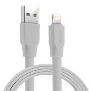 Кабель USB 2.0 Am=>Apple 8 pin Lightning, 1.2 м, плоский, белый, Joyroom Titan S-L127