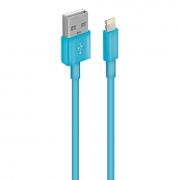 Кабель USB 2.0 Am=>Apple 8 pin Lightning, 1 м, синий, Oxion DCC003