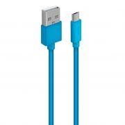 Кабель USB 2.0 Am=>micro B - 1.0 м, синий, Oxion DCC030BL