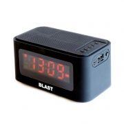 Мини аудио система BLAST BAS-750 Bluetooth, MP3, FM, часы/будильник, черная