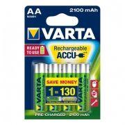 Аккумулятор AA VARTA Ready2Use 2100мА/ч Ni-Mh, 4шт, блистер (56706101414)