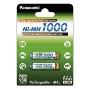 Аккумулятор AAA Panasonic High Capacity 1000мА/ч Ni-Mh, 2шт, блистер