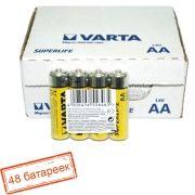 Батарейка AA VARTA R6/4SH Superlife, солевая, 48 шт, коробка (2006)