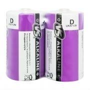 Батарейка D VS LR20/2SH Alkaline, 2 шт, термопленка