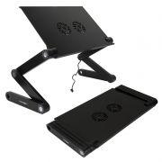 Раскладной портативный столик для ноутбука CROWN CMLS-115B, до 17, 2 вентил., алюминий