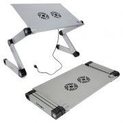 Раскладной портативный столик для ноутбука CROWN CMLS-116G, до 17, 2 вентил., алюминий