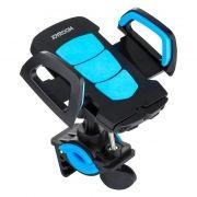 Держатель велосипедный для смартфона, на руль или штангу, черный/голубой, Joyroom Bike Blue