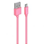 Кабель USB 2.0 Am=>micro B - 1.0 м, розовый, Oxion DCC030PK