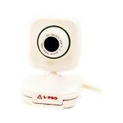Веб-камера L-Pro 132/1407, белое яблоко, 0.3 MP, микрофон, USB