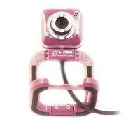 Веб-камера L-Pro 917/1406, фиолетовая, 0.3 MP, микрофон, USB