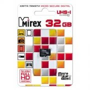 Карта памяти Micro SDHC 32Gb Mirex Class 10 UHS-I U1 без адаптера (13612-MCSUHS32)