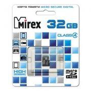 Карта памяти Micro SDHC 32Gb Mirex Class 4 (13612-MCROSD32)