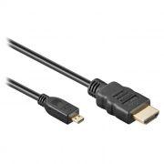 Кабель HDMI micro - HDMI 19M/micro D, 1 м, черный, позолочен. контакты, Exegate (EX254072RUS)