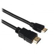 Кабель HDMI mini - HDMI 19M/19M, 1.8 м, черный, позол. разъемы, Exegate (EX257911RUS)