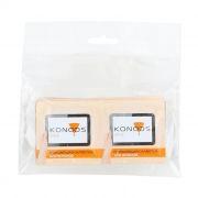 Салфетки влажные KONOOS для очистки ЖК экрана, в индивид. упаковке, 10шт (KTS-10)