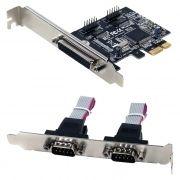 PCI-E контроллер 2 внешних порта COM DB9M и 1 внешний LPT, ORIENT XWT-PE2S1PV1 (OEM)