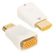 Адаптер HDMI/M - VGA/F, белый, Orient C117