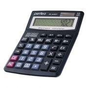 Калькулятор настольный Perfeo PF_A4027, 12-разрядный, бухгалтерский, черный
