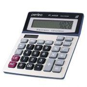 Калькулятор настольный Perfeo PF_A4028, 12-разрядный, бухгалтерский, серебристый