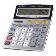 Калькулятор настольный Perfeo PF_A4029, 12-разрядный, бухгалтерский, серебристый