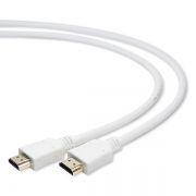 Кабель HDMI 19M-19M V2.0, 1.0 м, белый, позол. разъемы, Gembird/Cablexpert (CC-HDMI4-W-1M)