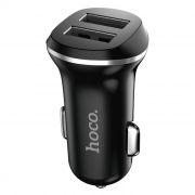 Зарядное автомобильное устройство Hoco Z1 2.1A 2xUSB, черное