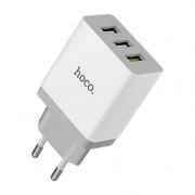 Зарядное устройство Hoco С24B QC3.0 3А 3xUSB, белое