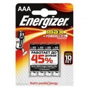 Батарейка AAA ENERGIZER MAX+Power Seal LR03/4BL, 4шт, блистер