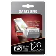 Карта памяти Micro SDXC 128Gb Samsung EVO+ Class 10 UHS-I U3 100/90 Мб/с + адаптер SD