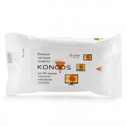 Салфетки влажные KONOOS для очистки ноутбука, в индивидуальной упаковке, 15шт (KSN-15)