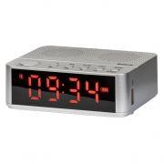 Мини аудио система DEFENDER Enjoy M800 Bluetooth, MP3, FM, часы/будильник, серебристая (65684)
