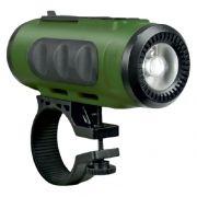 Колонка 1.0 RITMIX SP-520BC, MP3, FM, Bluetooth, фонарь, крепление на руль, зеленый/черный