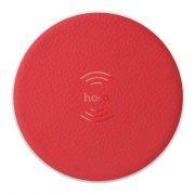 Беспроводное зарядное устройство Qi, 5W, красное, Hoco CW14 Round