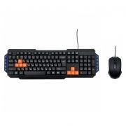 Комплект Ritmix RKC-055 Black/Orange, проводные клавиатура и мышь