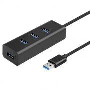 HUB 4-port ORIENT BC-304, USB 3.0, разъем доп.питания, черный (30420)