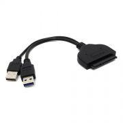 Адаптер USB3.0 - S-ATA 2.5 SSD/HDD, питание от 2xUSB, Orient UHD-502 (29996)
