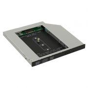 Шасси для SSD M.2 (NGFF) в отсек 5.25 9.5мм, Orient UHD-2M2C9